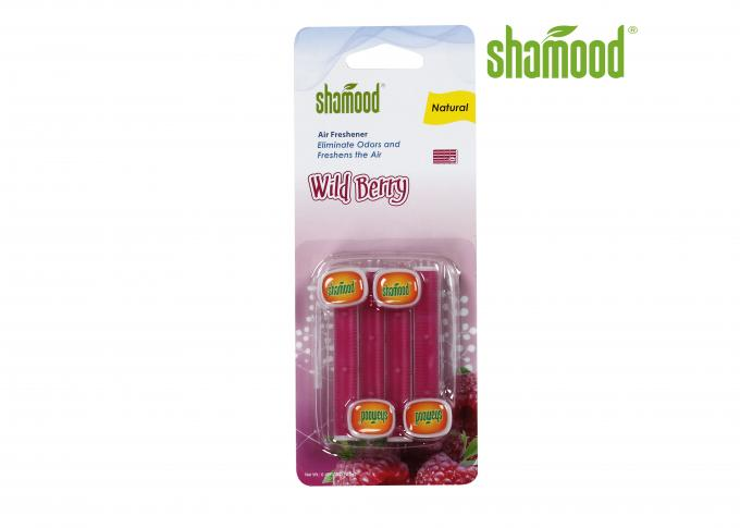 Red Vent Stick Air Freshener Wild Berry Clip Sweet - Scented Long Lasting Fragrances