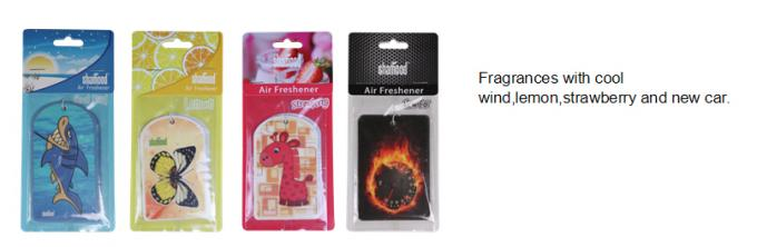 Hanging Thick Paper Car Air Freshener with Mutipul Choices Various Fragrance
