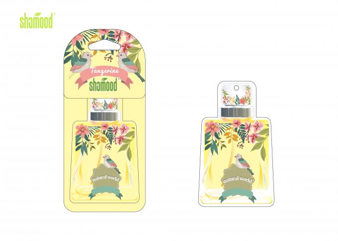 Tangerine Fragrance Paper Air Freshener , Hanging Car Air Fresheners