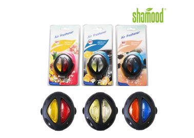 China Round Membrane Air Freshener , Liquid Air Freshener For Car Vent 6ml Double Colors supplier