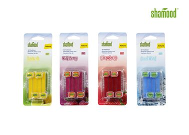 China 4 Strips / PK Plastic Fragrant Commercial Restroom Air Freshener  Chemical Free supplier
