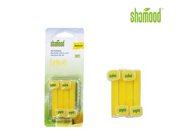 China Lemon Vent Stick Air Freshener Home Vent Air Fresheners 4 Strips / PK supplier