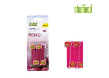 China Red Vent Stick Air Freshener Wild Berry Clip Sweet - Scented Long Lasting Fragrances supplier