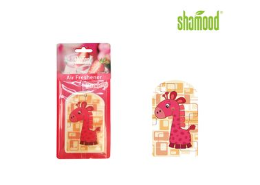 China Animal Giraffe Thick Paper Air Freshener Strawberry Fragrance Eco - Friendly supplier