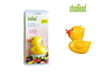 Plastic Air Freshener Lemon Yellow Duck Hanging Air Freshener Both for Home and Car