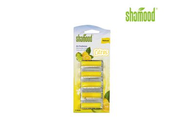 Yellow Citrus Home Small Vacuum  Air Fresheners Cleaner 5 Strips / Set