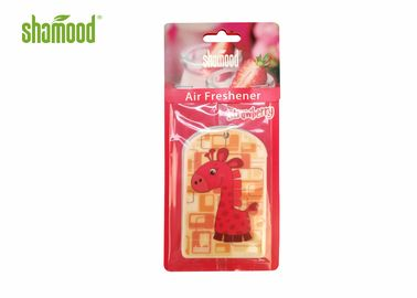 China Animal Giraffe Shape Room Hanging Paper Air Freshener Environment Friendly supplier