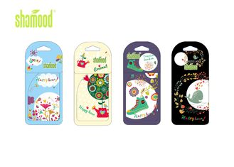 China Nature Nice Smell Paper Air Freshener , Eco Friendly Auto Air Freshener supplier