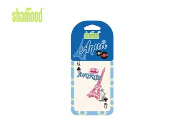 China Small Hanging Paper Air Freshener Perfume Aqua Fragrance for Car supplier