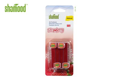 China Strawberry Fragrance Car Vent Air Fresheners Eco - Friendly Stripe Shape supplier