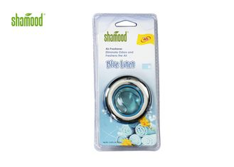 China Blue Linen Liquid Car Air Freshener Customized Small Mini Size supplier