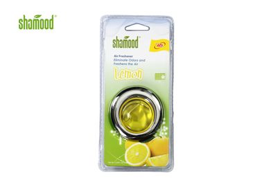 China Yellow Lemon Fragrance Car Vent Air Freshener Membrane Size SGS supplier