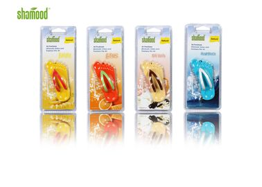 China 4 Simple Plastic Air Freshener Hanging Double Blister Summer Slipper Decorative supplier