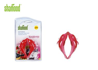 China Non - Toxic Hanging Air Freshener For Car , Red Cute Custom Air Fresheners supplier