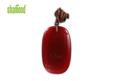 Scent Strawberry Plastic Air Freshener , Natural Room Freshener With Transparent Orange Color