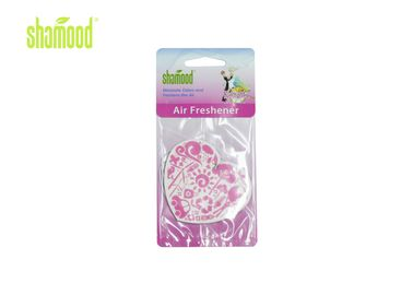 China Warm Heart Scented Paper Air Freshener Romantic Scents factory